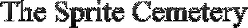 The Sprite Cemetery. panelmonkey@outlook.com